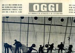 OGGI - ANNO I - N° 26 - 25 NOVEMBRE 1939 - SI APPRESTANO LE NUOVE NAVI PER I TRAFFICI ITALIANI NEL MONDO - Oorlog 1939-45