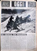 OGGI - ANNO II - N° 9 - 2 MARZO 1940 - ARTIGLIERI DA MONTAGNA AI CONFINI D'ITALIA - War 1939-45