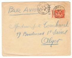 3f Iris Yvert 655 Seul Sur Lettre Pr Avion PourAlger, Cachet Paris Affranch Chargemts Pas Courant (1945) - 1939-44 Iris