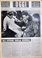 OGGI - ANNO II - N° 31 - 3 AGOSTO 1940 - PILOTI ITALIANI STUDIANO LA ROTTA PER UN VOLO DI BOMBARDAMENTO - Oorlog 1939-45