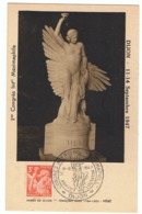 3f Iris Yvert 655 Sur Carte Maximum - 1939-44 Iris
