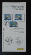 Explorateurs Explorers Baudin Flinders France Asutralia Notice FDC Avec Timbre - Multilingual FDC 2002 - FDC