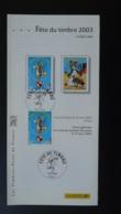 BD Lucky Luke Cheval Horse Journée Fête Du Timbre Notice FDC Avec Timbre - Multilingual FDC 2003 - Dag Van De Postzegel