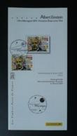 Albert Einstein Prix Nobel Notice FDC Avec Timbre - Multilingual FDC 2005 - Albert Einstein