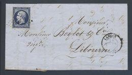 14A Napoléon Bleu Très Foncé PC 1638 Langon 32 Pour Libourne - 1849-1876: Période Classique