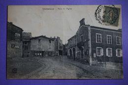 CPA 63 VERTAIZON PLACE DE L'EGLISE Canton BILLOM 1919 - Other Municipalities