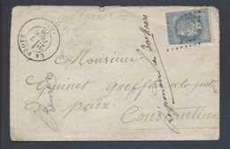 29B Napoléon GC 2980 La Poote 51 Mayenne 1870 Indice 9 Pour Constantine Algérie - 1849-1876: Période Classique