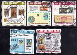 REPUBBLICA DI SAN MARINO 1988 INVITO ALLA FILATELIA SERIE COMPLETA COMPLETE SET USATA USED OBLITERE' - Saint-Marin