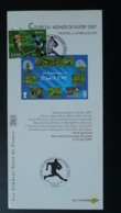 Coupe Du Monde Rugby World Cup Notice FDC Avec Timbre - Multilingual FDC 2007 - Rugby