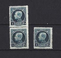 Belgique:215 **  (3x) - 1922-1927 Houyoux