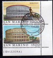 REPUBBLICA DI SAN MARINO 1985 ROMA 85 D.C. SERIE COMPLETA COMPLETE SET USATO USED OBLITERE' - Saint-Marin