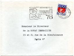 YVELINES - Dépt N° 78 = SARTROUVILLE 1968 = FLAMME Codée = SECAP  ' N° De CODE POSTAL / PENSEZ-Y ' - Postleitzahl