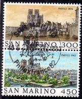 REPUBBLICA DI SAN MARINO 1982 PARIGI 1806 SERIE COMPLETA COMPLETE SET USATA USED OBLITERE' - Saint-Marin