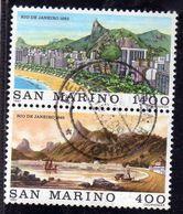 REPUBBLICA DI SAN MARINO 1983 RIO DE JANEIRO 1845 SERIE COMPLETA COMPLETE SET USATA USED OBLITERE' - Saint-Marin