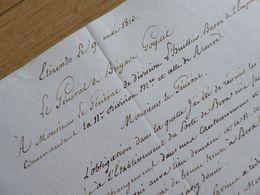 General GOGUET (1813) ESPAGNE Spana ELIZONDO Bera EMPIRE Napoleon - Autographe AUTOGRAFO - Autographs