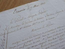 General GOGUET (1813) ESPAGNE Spana IRURITA Baztan ELIZONDO EMPIRE Napoleon - Autographe AUTOGRAFO - Autographs