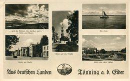 BELGIUM (?) - Four View Card Aus Beutfchen LANDEN - Matt RPPC - Landen