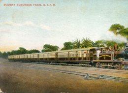 INDIA - Bombay Surburban Train G.I.P. Railway - Artcard - Trains