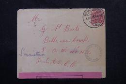 TRANSVAAL - Enveloppe Pour Le Camp De Prisonniers De Belle Vue En 1901 Avec Contrôle Postal, Affr. Plaisant - L 62942 - Transvaal (1870-1909)