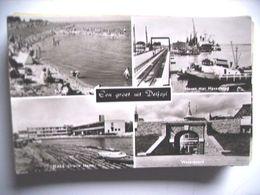 Nederland Holland Pays Bas Delfzijl Met Haven, Strand En Poort - Delfzijl
