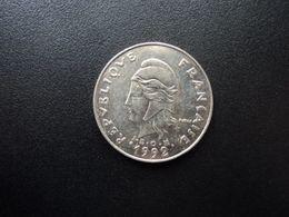 NOUVELLE CALÉDONIE : 20 FRANCS   1992    KM 12        SUP+ - Nouvelle-Calédonie