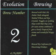 EVOLUTION BREWING (SHREWSBURY, ENGLAND) - BREW NUMBER 2 - PUMP CLIP FRONT - Letreros