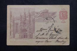 INDE PORTUGAISE - Entier Postal De Pinola Pour Bombay En 1898 - L 62944 - Inde Portugaise
