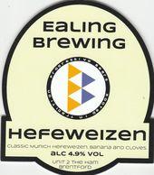 EALING BREWING (BRENTFORD, ENGLAND) - HEFEWEIZEN - PUMP CLIP FRONT - Letreros