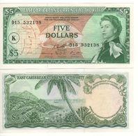 EAST CARIBBEAN  $ 5   P14L   (St. Kitts    -  1965 )    UNC - Oostelijke Caraïben