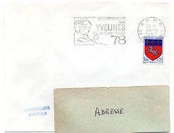 YVELINES - Dépt N° 78 = SARTROUVILLE 1967 = FLAMME PP Codée = SECAP  ' N° De CODE POSTAL / PENSEZ-Y ' - Postleitzahl