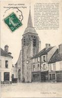 89 - PONT SUR YONNE Une Partie De La Place Et L'Eglise écrite Timbrée - Pont Sur Yonne