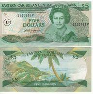 EAST CARIBBEAN  $ 5   P18u   (Anguilla    -  1986-1988 )    UNC - Oostelijke Caraïben