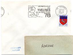 YVELINES - Dépt N° 78 = TRAPPES 1967 = FLAMME Codée = SECAP  ' N° De CODE POSTAL / PENSEZ-Y ' - Postleitzahl