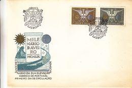 Portugal - Lettre FDC De 1959 - Oblit Lisboa - Armoiries -  Valeur 8,50 Euros - 1910-... Republic