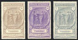 """1923 """"CAMICIE NERE"""" N.147/149 NUOVI* CENTRATI LEGGERA TRACCIA DI LINGUELLA - MLH VERY FINE - Nuovi"""