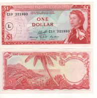 EAST CARIBBEAN  $ 1   P13L  (island Of St. Lucia    -  1965 )    UNC - Ostkaribik