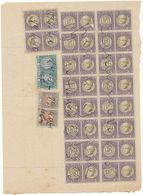 1940 RICEVUTA  CON MARCHE DA BOLLO REVENUE GRANDE BLOCCO 0,50 SCAMBI COMMERCIALI INTERE + 1+3 LIRE INTERE - Vecchi Documenti