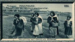 CHROMO CHOCOLAT SUCHARD COLLECTION EUROPEENNE LONDRES POULTOUSK PAYSANNES SE RENDANT AU MARCHE - Suchard