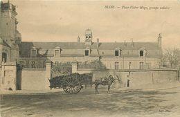 SL 10 Cpa 41 BLOIS Ecole Place Victor-Hugo Fontaine Maison Papin Pont Haras Château Eglise Square Chanzy - Blois