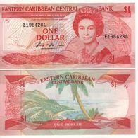 EAST CARIBBEAN  $ 1   P21L  (island Of St. Lucia    -  1985-1988 )    UNC - Ostkaribik