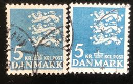 Danmark - D1/10 - 1968 - (°)used - Rijkswapen -  Fluo - Escudos De Armas