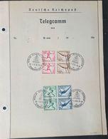 1936, 2 Viererblöcke Aus MH Mit SSt Auf Telegramm-Vorderseite Olympia-Telegramm (gelocht) - Ete 1936: Berlin