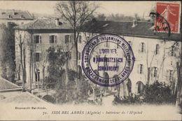Algérie CP Sidi Bel Abbès Hôpital Cachet 20e Section D'infirmiers Militaires Détachement Sidi B A  Officier D'admin. - Cachets Militaires A Partir De 1900 (hors Guerres)