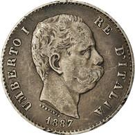 Monnaie, Italie, Umberto I, Lira, 1887, Milan, TTB, Argent, KM:24.2 - 1861-1946 : Regno
