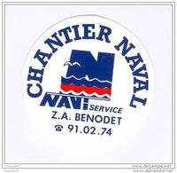 """Sticker Autocollant """" Chantier Naval Navi Service """" à BENODET 29 Finistère - Bretagne - Bateaux"""