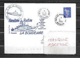 Patrouilleur (P400) LA BOUDEUSE - Surveillance De La ZEE - TàD LE PORT MARINE 13/09/04 Sur Timbre De Mayotte - Postmark Collection (Covers)