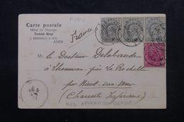 INDE / ADEN - Affranchissement Plaisant De Sur Cp De Aden De L'Hôtel De L'Europe En 1904 Pour La France - L 62952 - India (...-1947)
