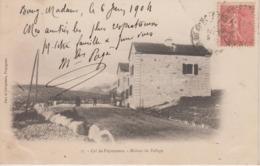 CPA Précurseur Col De Puymorens - Maison De Refuge (avec Petite Animation) - France