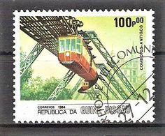 Guinea-Bissau Mi.Nr. 833 O Eisenbahn 1984 / Schwebebahn Wuppertal (#16) - Guinea-Bissau