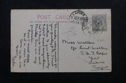 INDE - Affranchissement Edouard VII De Moulmein Sur Carte Postale En 1909 Pour Lahore - L 62955 - India (...-1947)